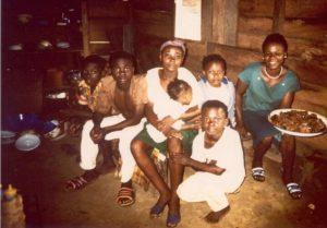 With my friend Marie Carmen In Equatorial Guinea