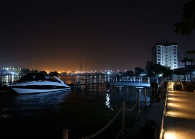 Five Cowrie Creek by night